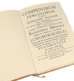 Książka Czernieckiego Stanisława, Compendium Ferculorum (najstarsza książka kucharska) na ekskluzywny prezent