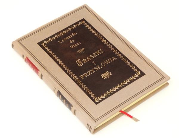 Książka Leonarda da Vinci, Fraszki i przysłowia w skórzanej oprawie