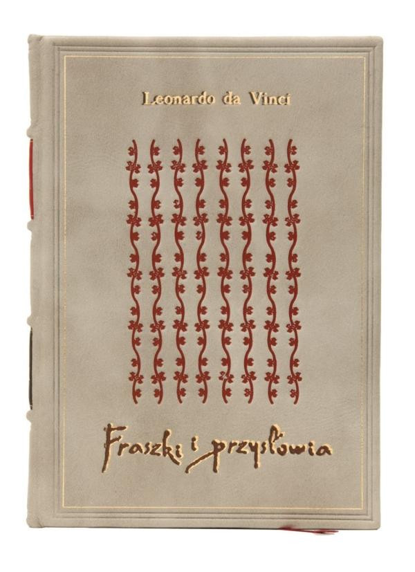 Oprawa introligatorska książki Leonarda da Vinci, Fraszki i przysłowia