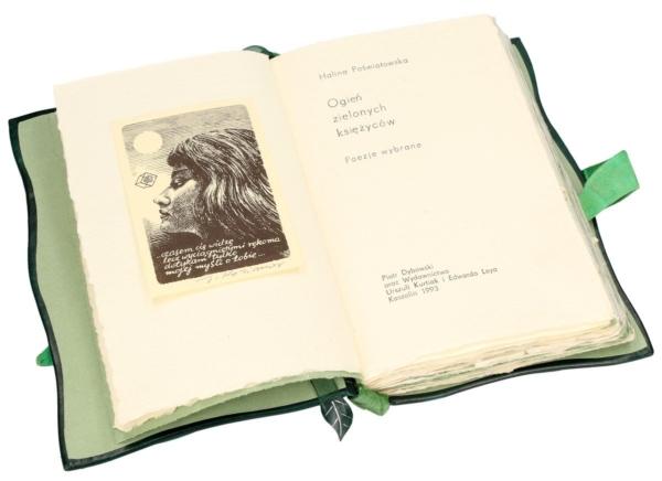 Książka Poświatowskiej Haliny, Ogień zielonych księżyców (unikat) na osobisty prezent