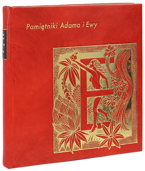 Książka Twaina Marka, Pamiętniki Adama i Ewy na luksusowy prezent