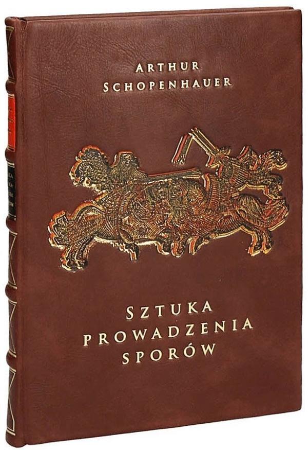 Książka Schopenhauera Arthura, Sztuka prowadzenia sporów w skórzanej oprawie
