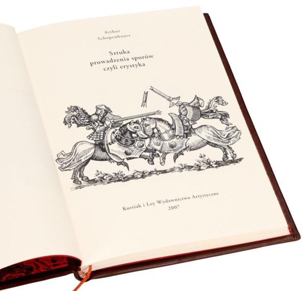 Książka artystyczna Schopenhauera Arthura, Sztuka prowadzenia sporów