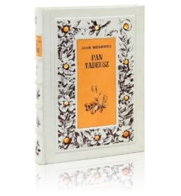 Książka Mickiewicza Adama, Pan Tadeusz (unikat) na ekskluzywny prezent