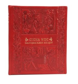 Piękna, skórzana oprawa książki Cicha noc. Najpiękniejsze kolędy