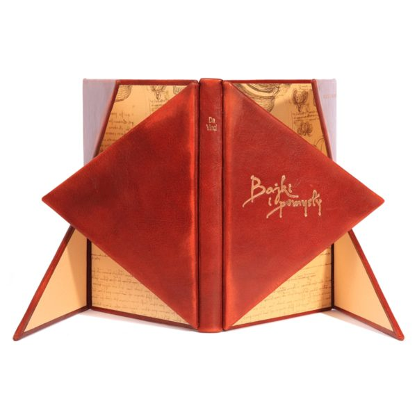 Piękna książka Leonarda da Vinci, Bajki i pomysły idealna na osobisty prezent