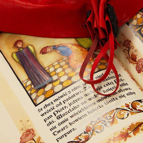 Piękna książka Kronika o Piotrze Włostowicu zdobiona złotem