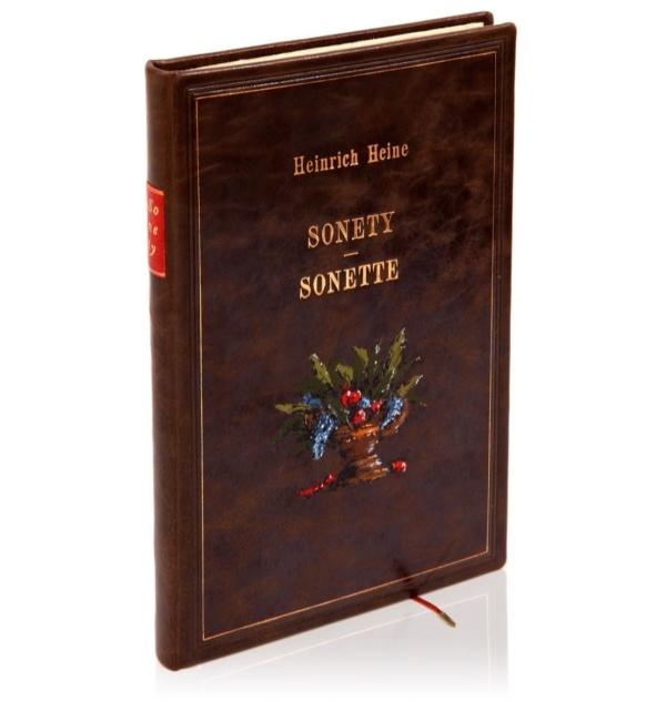 Oprawa książki Heinego Heinricha, Sonety | Sonette (unikat)