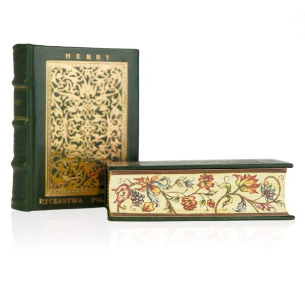 Ręcznie malowane brzegi książki Herby rycerstwa polskiego