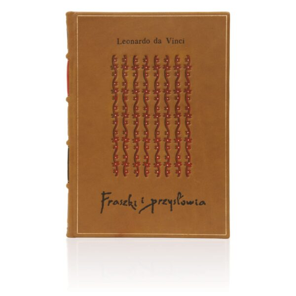 Oprawa artystyczna książki Leonarda da Vinci, Fraszki i przysłowia