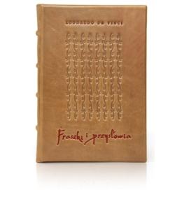 Książka kolekcjonerska Leonarda da Vinci - Fraszki i przysłowia