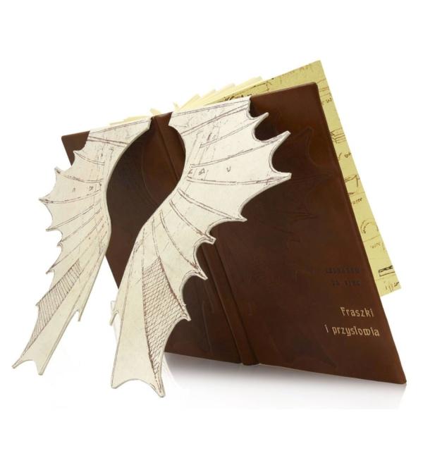 Artystyczna oprawa książki Leonarda da Vinci - Fraszki i przysłowia (unikat)