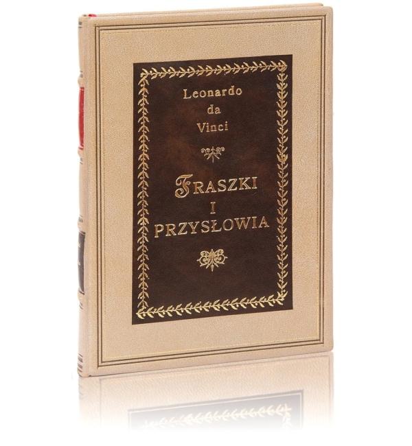 Oprawa artystyczna książki Leonarda da Vinci - Fraszki i przysłowia