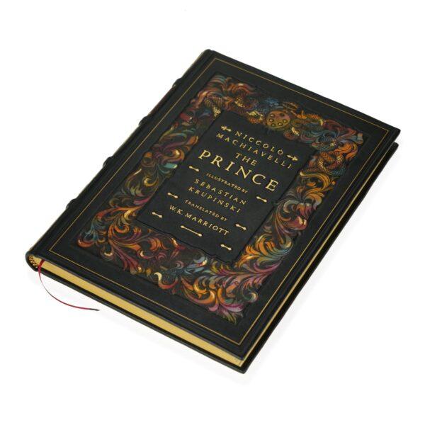 Książka Machiavellego Niccolò, The Prince w skórzanej oprawie