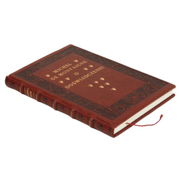 Książka artystyczna autorstwa Montaigne'a Michela de, O doświadczeniu