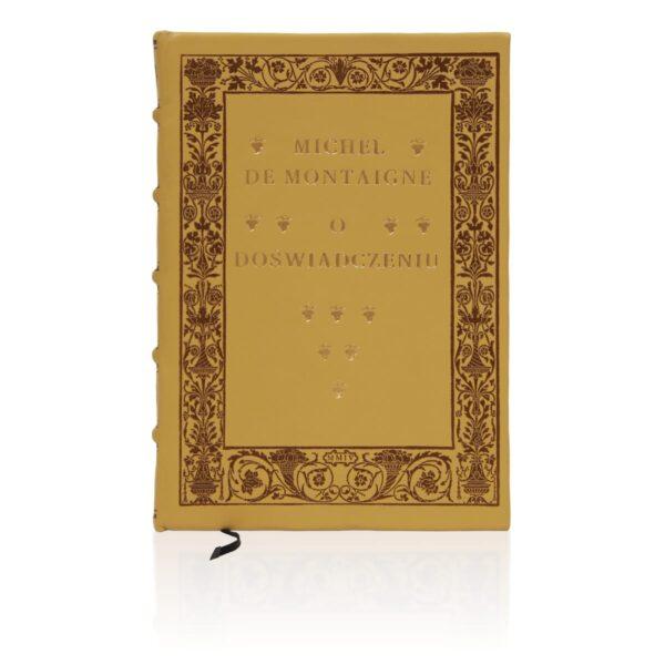 Artystyczne wydanie książki Montaigne'a Michela de, O doświadczeniu