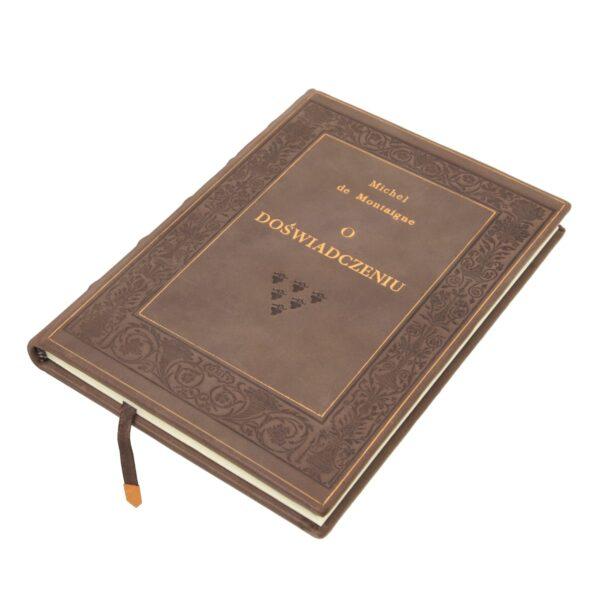Oprawa artystyczna książki Montaigne'a Michela de, O doświadczeniu