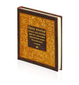 Oprawa artystyczna książki Opisy biesiad