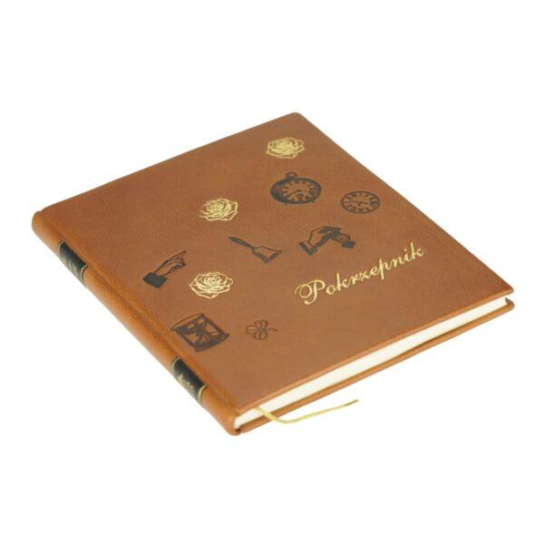 Książka Pokrzepnik w skórzanej oprawie