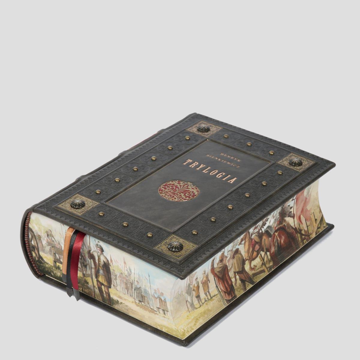 Ręcznie malowana, książka artystyczna Sienkiewicza Henryka, Trylogia
