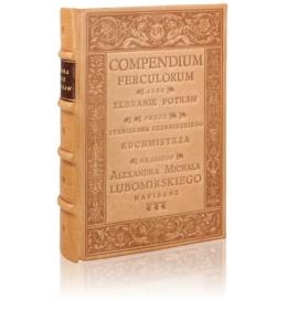 Książka Czernieckiego Stanisława, Compendium Ferculorum (najstarsza książka kucharska) idealna na prezent ekskluzywny