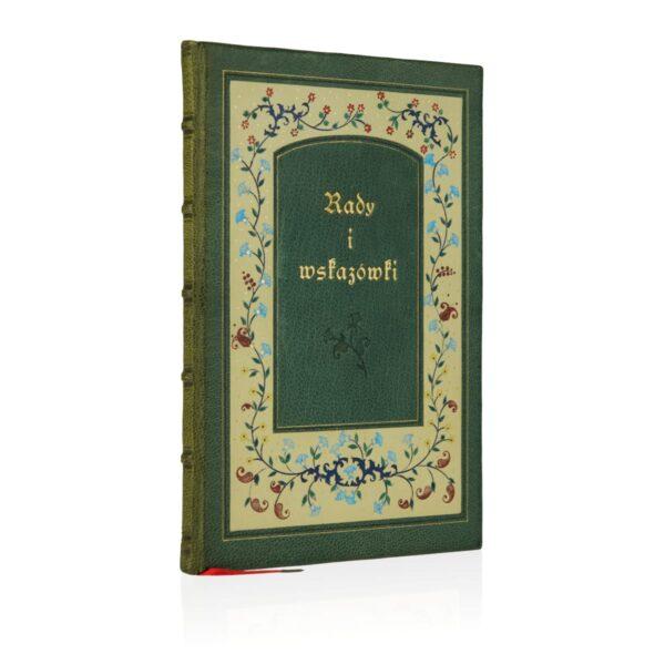 Książka Jana od Krzyża św., Rady i wskazówki ręcznie oprawiona w skórę