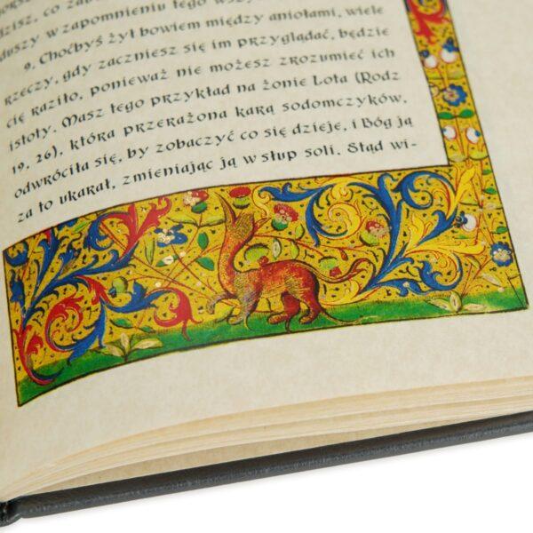 Ręczne zdobiona złotem bordiura książki Jana od Krzyża św., Rady i wskazówki