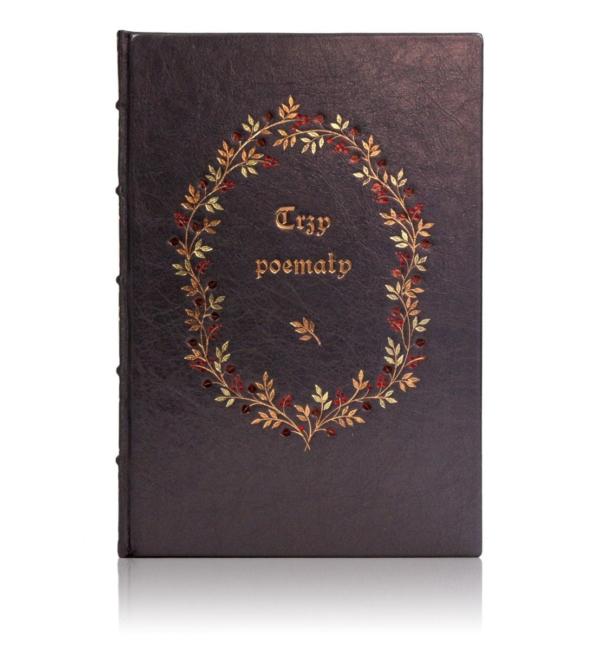 Książka Jana od Krzyża św., Trzy Poematy w skórzanej oprawie