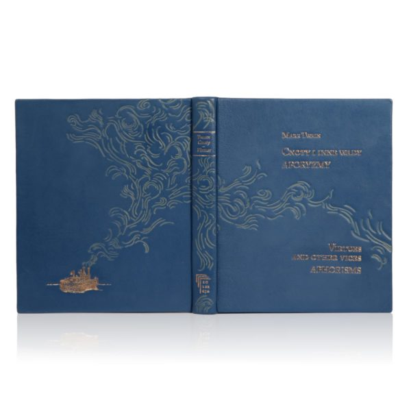 Pięknie tłoczona książka Twaina Marka, Cnoty i inne wady. Aforyzmy