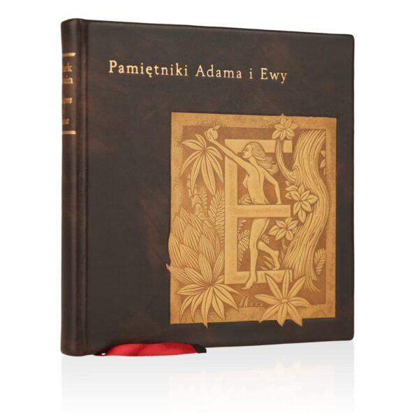 Książka Twaina Marka, Pamiętniki Adama i Ewy w skórzanej oprawie