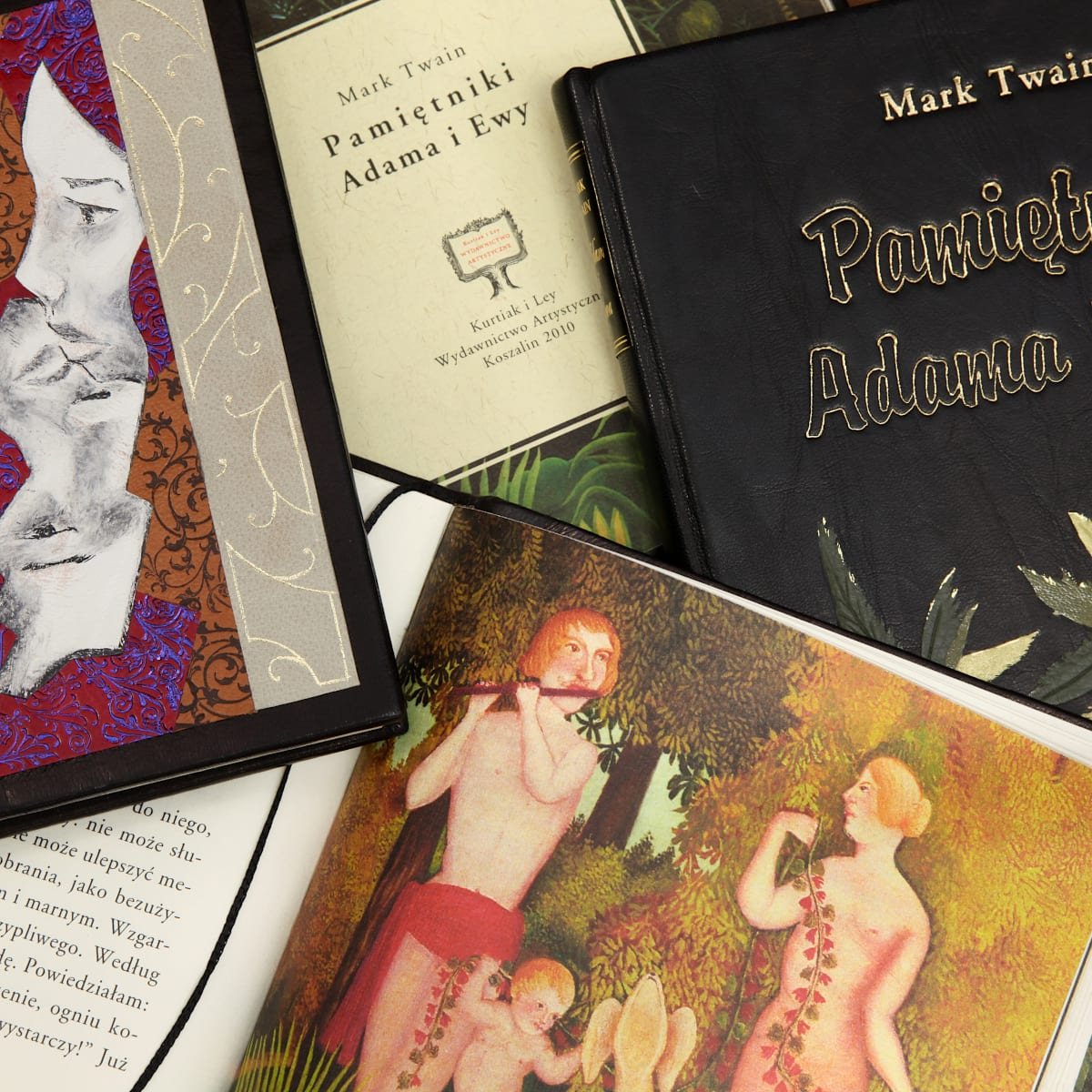 Pięknie zdobione wydania książek Twaina Marka, Pamiętniki Adama i Ewy