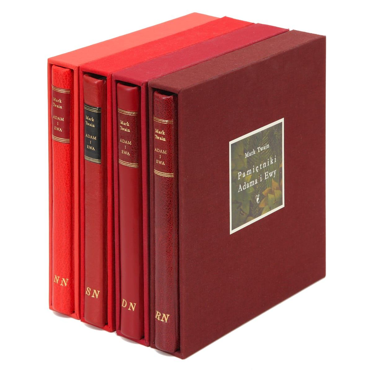 Książki Pamiętniki Adama i Ewy ze spersonalizowanymi inicjałami